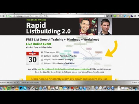 Rapid List Building 2.0 Workshop [Webinar Replay] with Pat and Clay