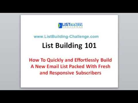 List Building Tutorial – How to Build a Fresh Email List In 30 Days or Less!